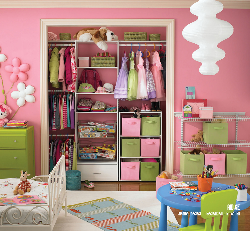 Funtastic Small Room Storage Ideas with Cool White Children Bed