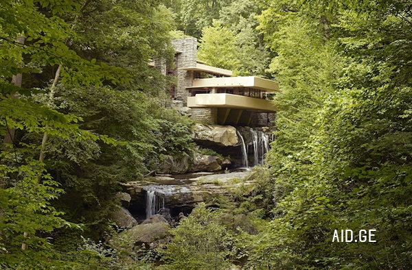 frenk loid rigte house on waterfalls