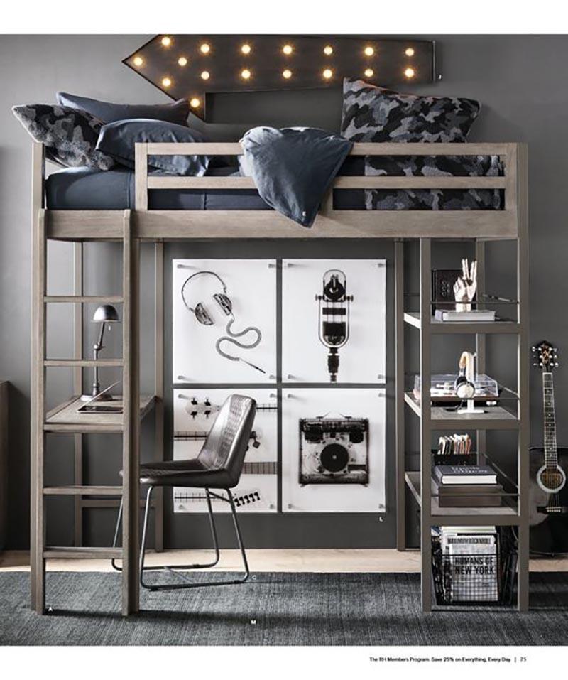 სამუშაო სივრცე საძინებელში